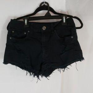 AE distressed hi-rise  denim shorts size 6